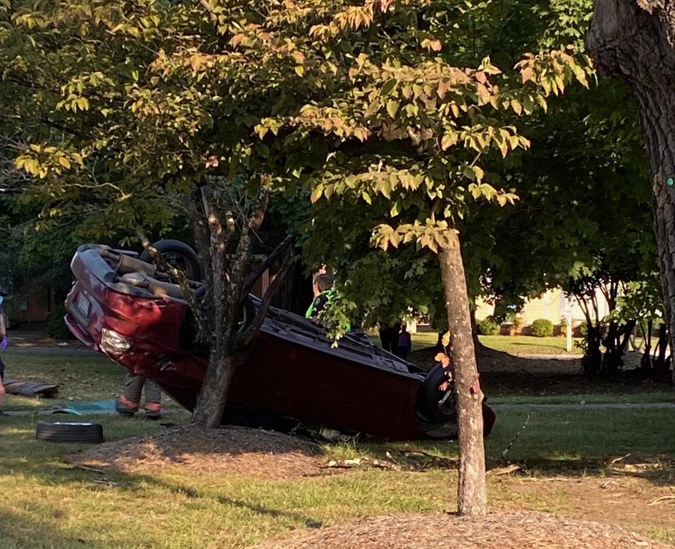 Vehicle Flips On Ash Street