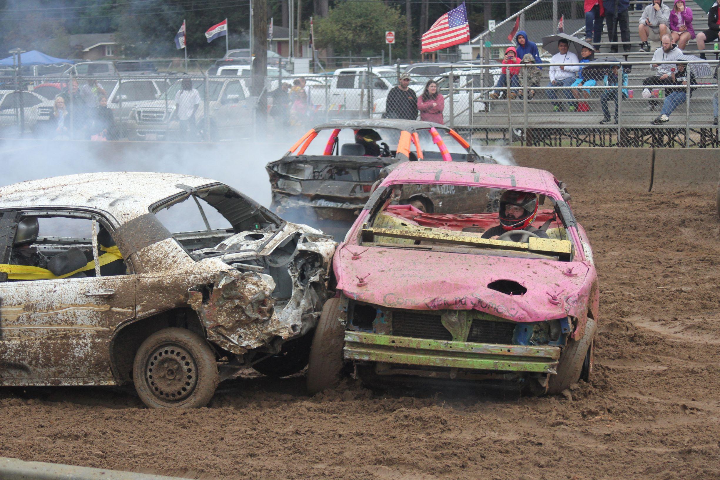 Fair's Demolition Derby Proceeds Despite Rain (PHOTO GALLERY)