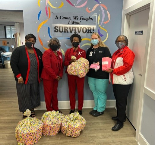 Delta Sigma Theta Sorority Makes Donation For Breast Cancer Patients