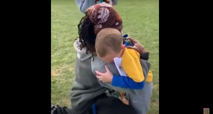 Grateful Child Tears Up While Reading a Letter to His Coach [VIDEO]