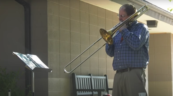 Virginia Man Drives 1400 Miles to Play Trombone for His Brother [VIDEO]