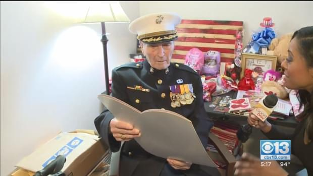 Oldest Living Marine Celebrates His 105th Birthday [VIDEO]