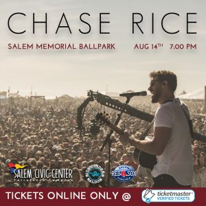 Chase Rice at Salem Memorial Ballpark-POSTPONED to May 21, 2021