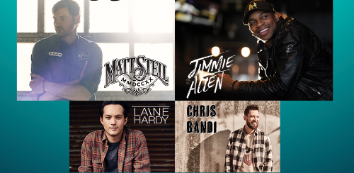JIMMIE ALLEN AND MATT STELL WITH LAINE HARDY AND CHRIS BANDI: FRIDAY, MAY 21
