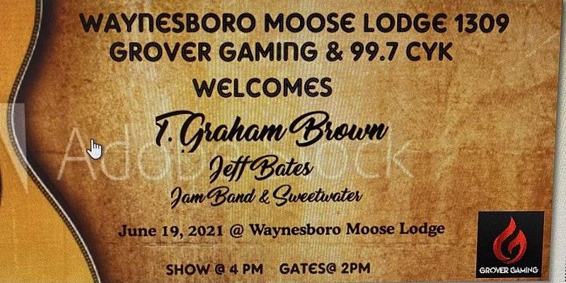 T.Graham Brown, Jeff Bates, Jam Band and Sweet Water: Sat, June 19, 2021