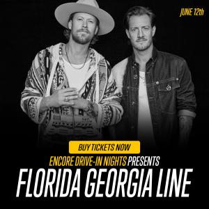 FLORIDA GEORGIA LINE: on the big screenat the Drive In at the Orange County Fair Grounds on Old Gordonsville Rdon June 12th!