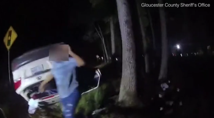 Virginia Cop Lifts Car to Help Save Woman [VIDEO]