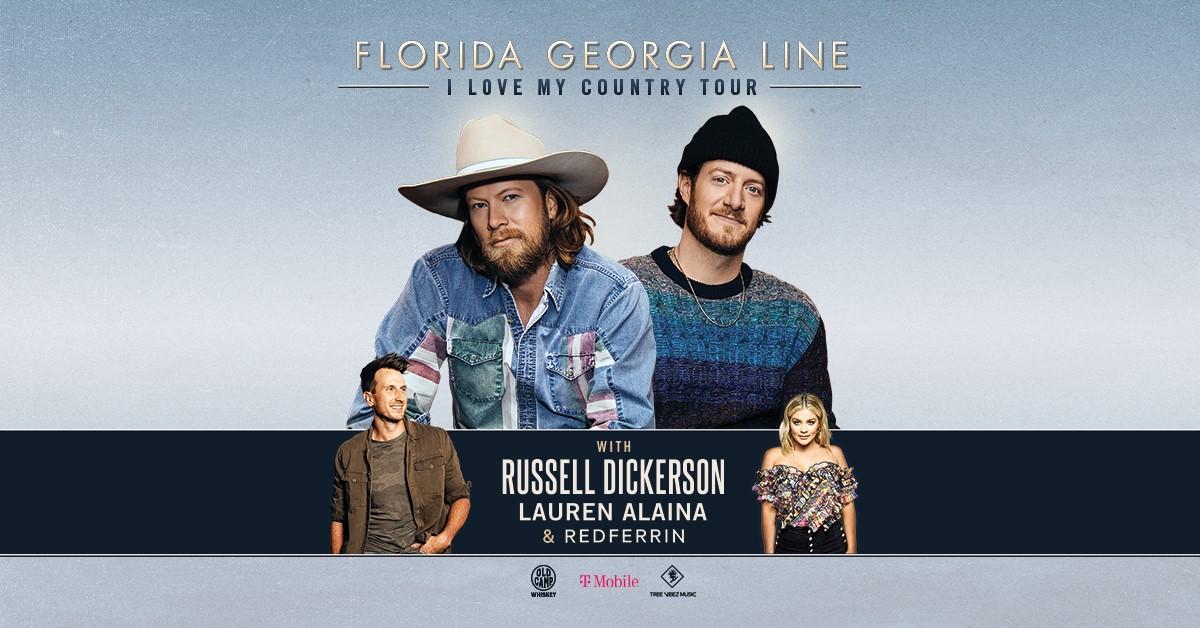 Florida Georgia Line: I Love My Country Tour:   Sat • Oct 23 • 7:30 PM:  Jiffy Lube Live