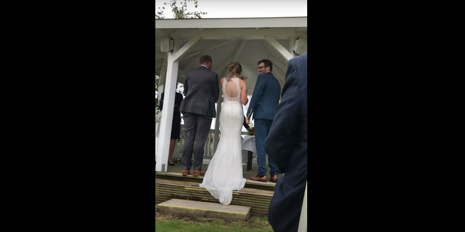Perfect Timing Dog Barks During the Objection Period of Wedding [WATCH]