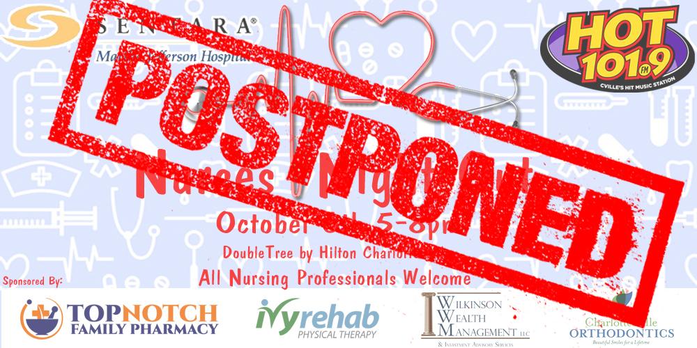 Nurses Night Out: POSTPONED