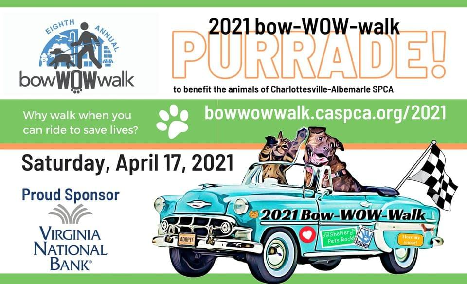 bow-WOW-walk PURRADE! SATURDAY, APRIL 17, 2021 AT 10 AM