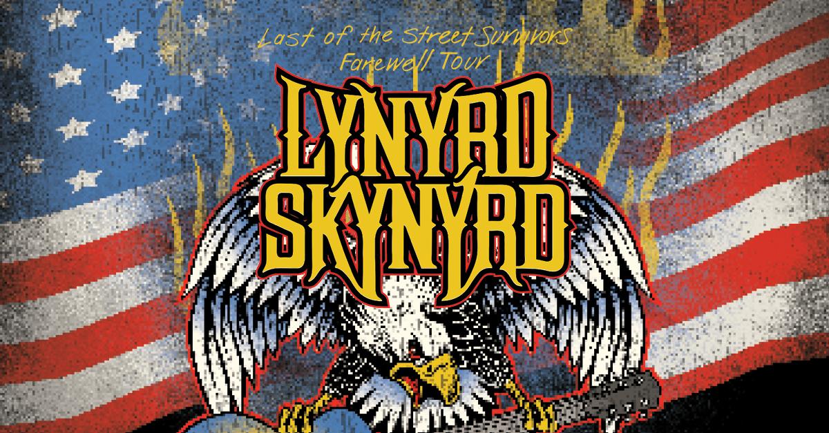Lynyrd Skynyrd, Last of the Street Survivors Farewell Tour:   Saturday, September 18   The Meadow Event Park