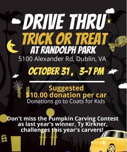Drive Thru Trick or Treat at Randolph Park