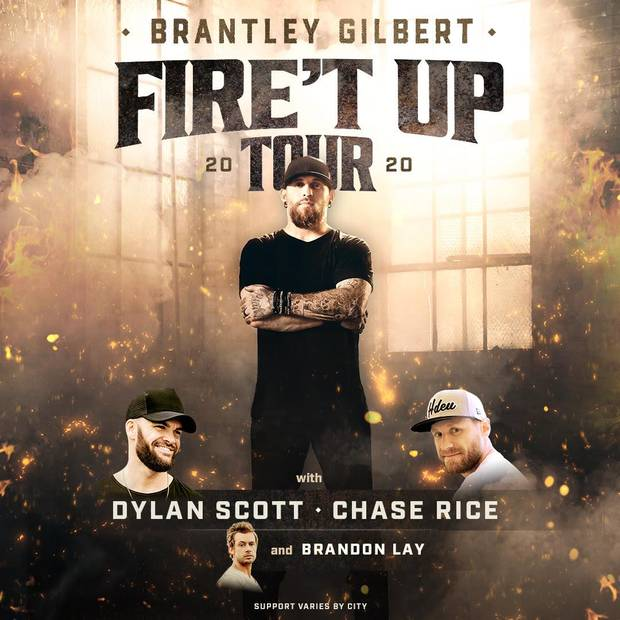 Brantley Gilbert's Fire't Up Tour