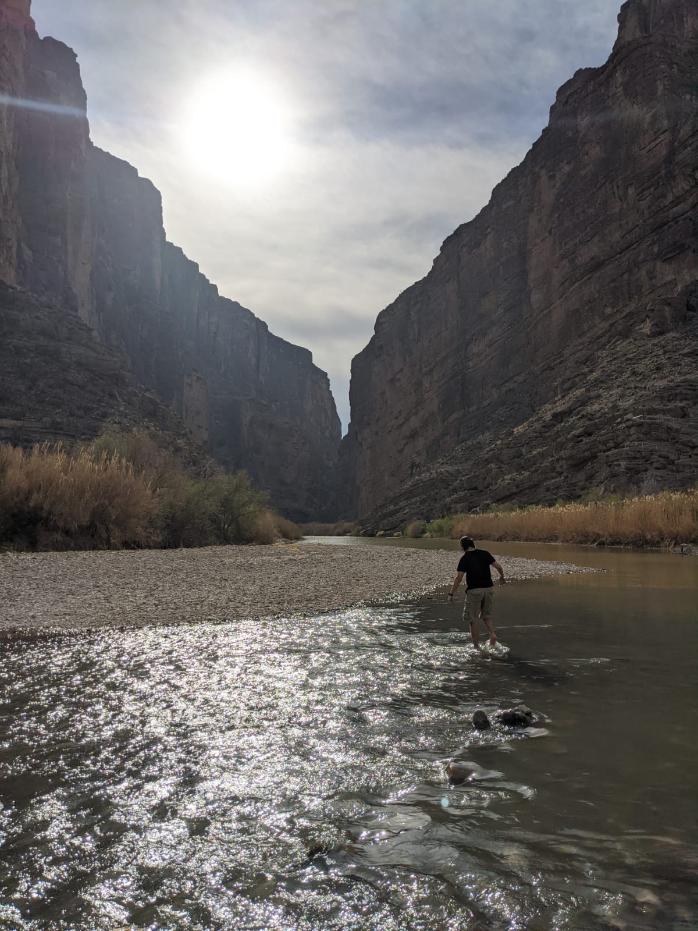 16. Crossing the Rio Grand into Mexico