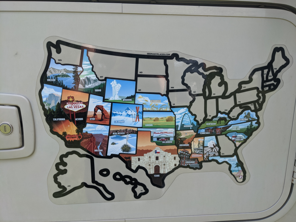 60. States we stayed in