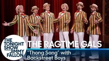 WATCH: Backstreet Boys Sing Barbershop Cover of 'Thong Song' with Jimmy Fallon