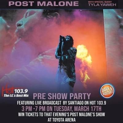 POST MALONE PRE SHOW PARTY – MARCH 17