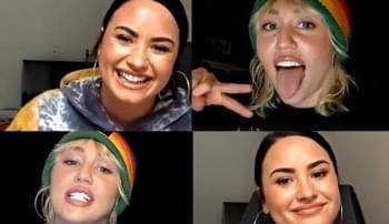 WATCH: Miley Cyrus and Demi Lovato Open Up About Social Distancing, Body Shaming and More