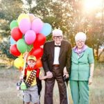 Great Grandparents Make It A Special Day For Grandson's Birthday
