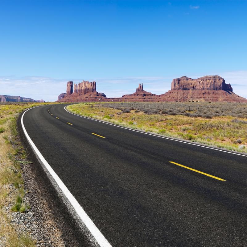 Rural desert highway.