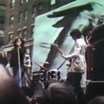 All Aboard the Apple Cart NYC the Stones on flatbed truck