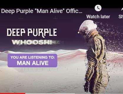 "Deep Purple are streaming ""Man Alive,"""