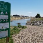 Kearney Canal being drained early on September 8th