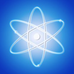 Atom icon - the symbol of science