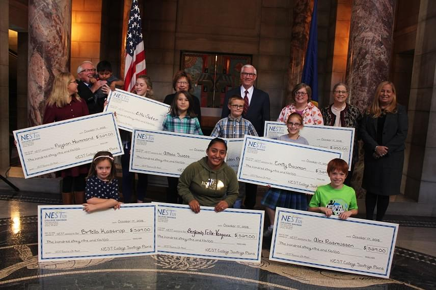 NEST 529 College Savings Rewards 15 Summer Readers in Capitol Ceremony