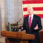 Ricketts touts revenue, virus response in legislative speech