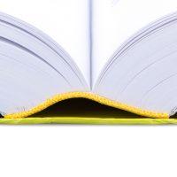 A modern opened book