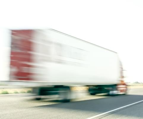 Semi Traveling at High Rate of Speed (Blur)