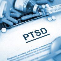 PTSD Diagnosis. Medical Concept. 3D Render.