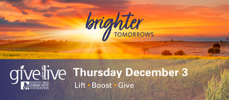 8th Annual Give Where You Live Giving Day is First Thursday in December