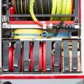 Firetruck equipment closeup