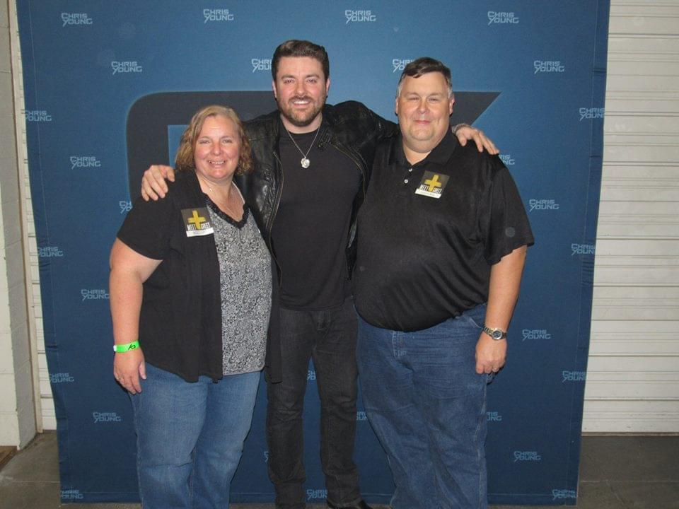Lisa and tim with Chris Young