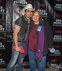 Lisa with Brad Paisley