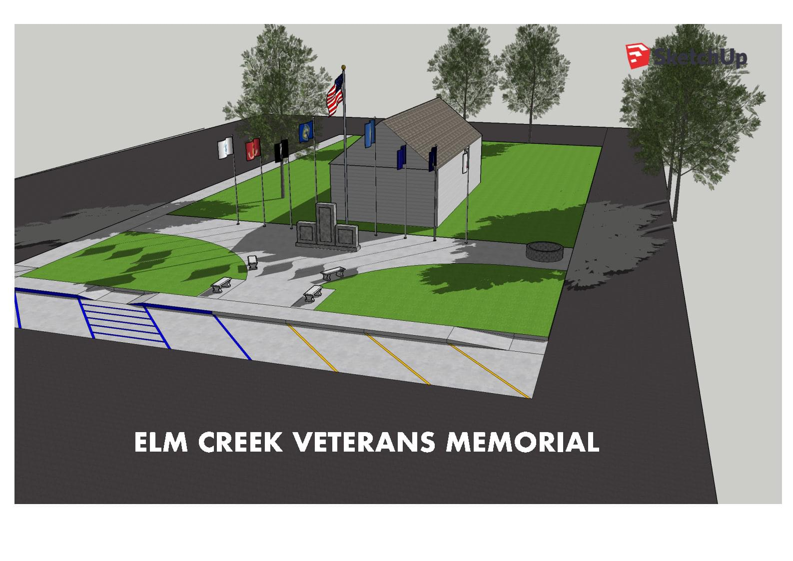 Elm Creek Veterans' Memorial Design Unveiled