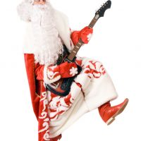 Ded Moroz plays on broken guitar. Isolated