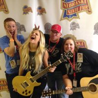 Lisa Scott and Bic with Kelsea Ballerini silly