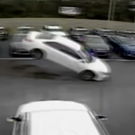 One Car, Leaps 12 Cars and Hits 2 When It Lands