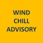 Wind Chill Advisory Overnight Wednesday through MidMorning Thursday