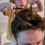 4-Year Old Gives Dad A Quarantine Hair Cut