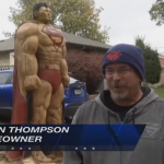 Superman Carved Into A Tree Thanks To A Creative UNL Student