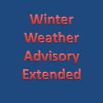 Winter Weather Advisory Extended to 9 PM