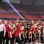 Devaney Center hosts championship celebration for triumphant Huskers