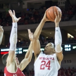 Huskers overcome deficit, foul trouble for third straight win