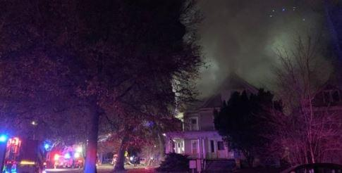 UPDATE: Fire Near 12th and D Streets Deemed Total Loss; Cause Unknown