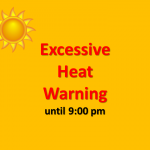Excessive Heat Warning Extended Until 9pm